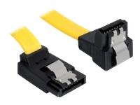 Bild von DELOCK Kabel SATA 6Gb/s 20cm gelb ob/un Metall