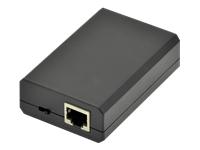 Bild von DIGITUS Gigabit PoE+ Splitter 10/100/1000 Mbps 24W Input 802.3at PoE Output 5V/2A 9V/2A 12V/2A Kunststoff-Gehause schwarz