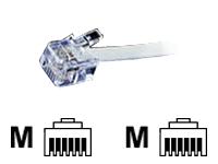 Bild von VALUE RJ12 Kabel 15m 4-adriges Flach-Telefonkabel mit 6P4C Stecker 1:1 verbunden