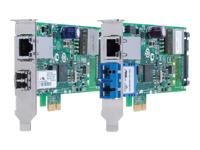 Bild von ALLIED PCI-Express Dual Port PoE+ Adapter mit 1000SX SC Connector und 10/100/1000T PoE+ Anschluss