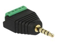 Bild von DELOCK Adapter Klinkenstecker 3,5mm zu Terminalblock 5 Pin