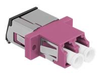Bild von DELOCK LWL Kupplung mit Laserschutzklappe LC Duplex Buchse zu LC Duplex Buchse Multimode violett