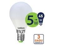 LEDURO LED spuldze G45 E14 5W 2700K 400l - Kovera Distribution