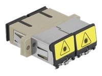 Bild von DELOCK LWL Kupplung mit Laserschutzklappe SC Duplex Buchse zu SC Duplex Buchse Multimode beige
