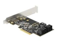Bild von DELOCK 5 Port SATA PCI Express x4 Karte - Low Profile Formfaktor
