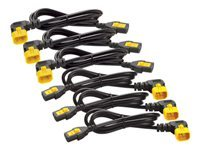 Bild von APC 6x Stromkabel C13 / C14 1,8m abgewinkelt