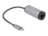 Bild von DELOCK USB Type-C Adapter zu Gigabit LAN mit Power Delivery Anschluss grau