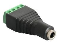 Bild von DELOCK Adapter Klinke Buchse 3,5 mm > Terminalblock 4 Pin