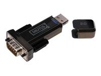 Bild von DIGITUS Converter USB2.0 auf Serial RS232 inkl. USB Verlaengerungskabel 80cm schwarz FTDI/FT323RL Chipsatz