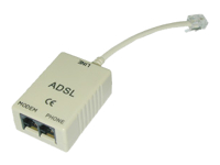 Bild von LINDY ADSL-Splitter, 3x RJ11 fuer DSL via Analog oder ISDN
