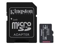 Bild von KINGSTON 16GB microSDHC Industrial C10 A1 pSLC Card + SD Adapter