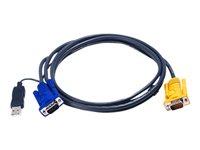 Bild von ATEN 2L-5206UP KVM-Kabel VGA USB mit eingebautem PS2-USB-Konverter schwarz 6,0 m 14016635