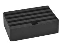 Bild von ALLDOCK Ladestation Medium 4x USB Hub pro Port 2400mA Gesamtleistung 9600mA schwarz