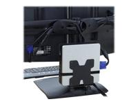 Bild von ERGOTRON universal Thin-Client-Halter schwarz VESA MISD 100x100  75x75mm belastbar bis max 2,7kg. auch fuer kleine CPU Mac mini etc.