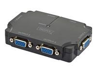 Bild von DIGITUS VGA Splitter 4-Port 350MHz 4Monitor 1PCs 4xVGA HDSUB15 Buchse 1xHDSUB15 Stecker Max. 2048x1536 Pixel bei 60Hz