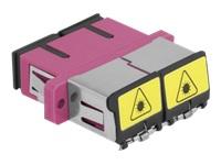 Bild von DELOCK LWL Kupplung mit Laserschutzklappe SC Duplex Buchse zu SC Duplex Buchse Multimode violett
