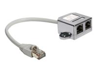 Bild von DELOCK RJ45 Port Doppler 1 x RJ45 Stecker > 2 x RJ45 Buchsen (2 x Ethernet)