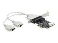 Bild von DELOCK PCI Express Karte zu 2x Seriell RS-232 mit Spannungsversorgung 5V/12V