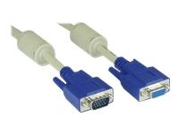 Bild von INLINE S-VGA Verlaengerung 15pol HD Stecker / Buchse beige 2m
