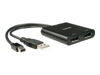 Bild von LINDY 2 Port 4K Mini DisplayPort Hub MiniDP 1x2 MST Hub