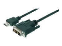 Bild von ASSMANN HDMI Adapterkabel Typ A-DVI(18+1) St/St 5,0m Full HD sw
