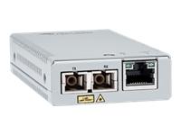 Bild von ALLIED Single Mode Mini Media and Rate Converter 10km MMC2000 10/100/1000T to 1000LX/SC
