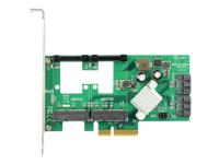 Bild von DELOCK PCI Express Karte > Hybrid 2 x intern SATA 6 Gb/s + 2 x intern mSATA