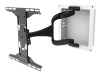 Bild von PEERLESS-AV IM747PU Display-Gelenk-Halterung bis 165,1cm 65Zoll mit In-wall Box 365x365mm für Strom Verkabelung in Trockenbauwand