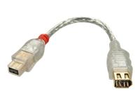 Bild von LINDY FireWire800/400 Adapter 9M/6F IEEE1394 9 male/4 female, 15cm