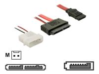 Bild von DELOCK Kabel Micro SATA Buchse + 2Pin Power > SATA