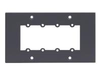 Bild von KRAMER Frame-2G/BE grau - Rahmen fuer Wall-Plate Einsaetze 2-fache Rahmenbreite fuer 4 Einsaetze