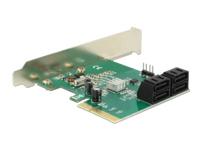 Bild von DELOCK PCI Express Karte > Hybrid 4 x intern SATA 6 Gb/s RAID - Low Profile Form Faktor