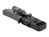 Bild von DELOCK Crimpzange mit Abisolierer und Netzwerktester für 8P RJ45 6P RJ12/11 6P DEC oder 4P RJ10 Stecker