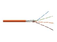 Bild von DIGITUS S-FTP PIMF Netzwerk Installationskabel CAT7 4x2xAWG23/1 LSOH  orange RAL2000 500m Rolle Verlegekabel