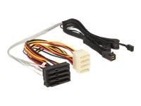 Bild von DELOCK Kabel Mini SAS HD SFF 8643 x4 Stecker > 4 x SAS 29 Pin SFF 8482 Buchse 1 m
