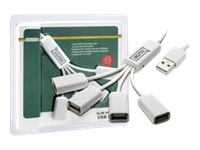 Bild von DIGITUS USB2.0 Kabel Hub 4-port bus powered 4xUSB A/F 1xUSB A/M ohne Netzteil