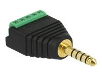 Bild von DELOCK Adapter Klinkenstecker 4,4mm zu Terminalblock 5 Pin