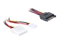 Bild von DELOCK Adapter Power SATA 15pin >5,25 mit Floppy 30cm