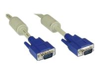 Bild von INLINE S-VGA Kabel 15pol HD Stecker / Stecker beige, 0.3m