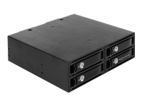 Bild von DELOCK 13,35cm 5.25Zoll Wechselrahmen für 4 x 6,35cm 2,5Zoll SATA / SAS HDD / SSD 12 Gb/s