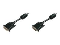 Bild von ASSMANN DVI-D Verlaengerungskabel Stecker/Buchse 24+1 2xgeschrimt Full HD Dual Link 2560x1600 bei 60Hz AWG28 10m bulk schwarz