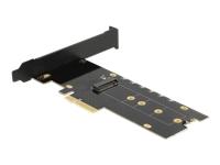 Bild von DELOCK PCI Express x4 Karte zu 1xintern NVMe M.2 Key M mit Kühlkörper und RGB LED Beleuchtung - Low Profile Formfaktor