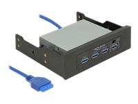 Bild von DELOCK 8,89/13,4cm 3.5/5.25Zoll USB 3.0 Hub 4 Port