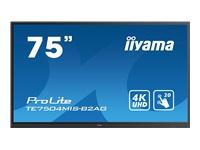 Bild von IIYAMA TE7504MIS-B2AG 190,50cm 75Zoll UHD IPS 20 Points Touch Landscape mode AG 3500:1 350cd/m2 VGA HDMI DP USB-C Audio Out LAN