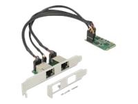 Bild von DELOCK Mini PCIe I/O PCIe full size 2 x Gigabit LAN Low Profile
