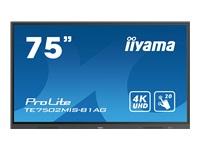 Bild von IIYAMA TE7502MIS-B1AG 190,50cm 75Zoll UHD VA 20 Points Touch Landscape mode AG 5000:1 350cd/m2 VGA 2xHDMI Audio Out LAN DP RS232C