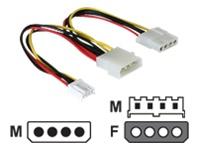Bild von DELOCK Kabel Y-Kabel Stromvers. 1x 13.3cm 5.25Zoll 1x 8.9cm/ 3,5Zoll