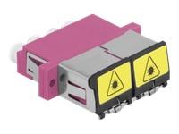 Bild von DELOCK LWL Kupplung mit Laserschutzklappe LC Quad Buchse zu LC Quad Buchse Multimode violett