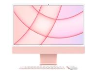 Bild von APPLE iMac 4,5K 59,62cm 23,5Zoll Apple M1 Chip 8C CPU und 7C GPU 16C N.E. 8GB 256GB SSD MM MaKey DE - Pink